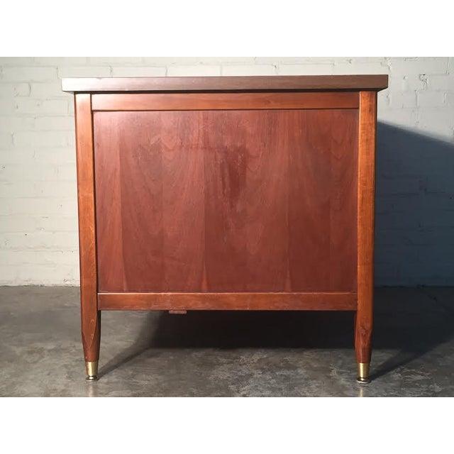 Hoosier Mid-Century Modern Walnut Desk - Image 4 of 10