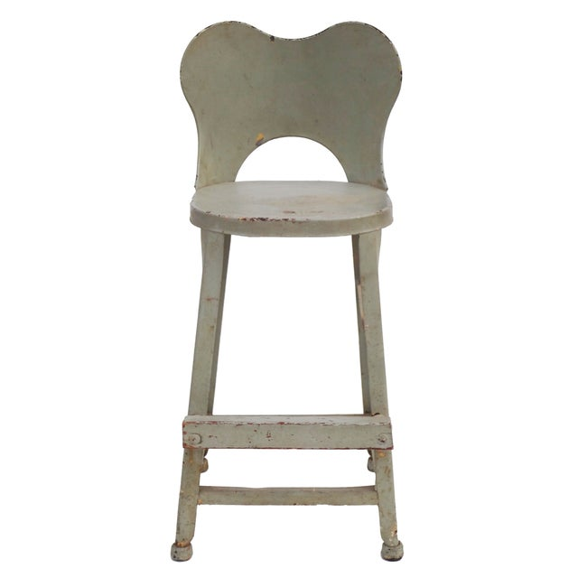 Image of Vintage Pale Blue Booster Seat or Farmhouse Stool