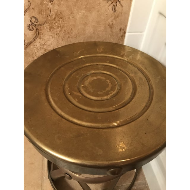 Vintage Brass Stool - Image 5 of 6