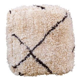 Moroccan Tan & Black Floor Pillow