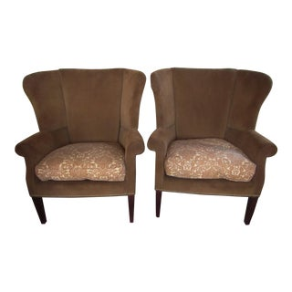 Taylor King Wingback Chairs - A Pair
