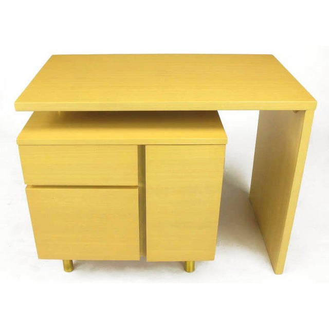 Bleached Mahogany Articulated Desk After Harvey Probber - Image 9 of 10