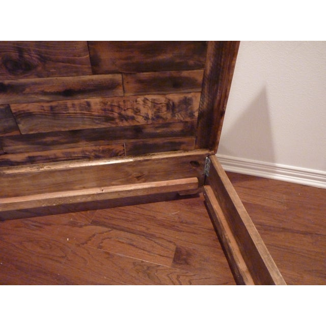 Shabby Chic Reclaimed Wood Queen Bed Frame - Image 6 of 6
