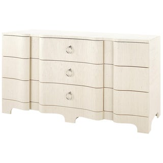 Bungalow 5 Bardot Extra Large 9-Drawer Chest of Drawers in Natural Lacquered Grasscloth