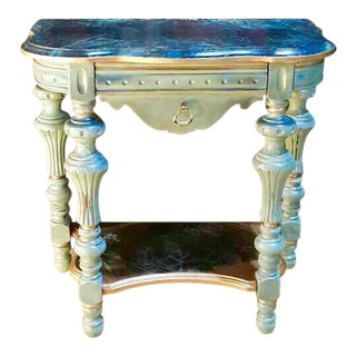 Turquoise Mini Accent Table