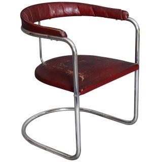 Anton Lorenz 1930's Modernist Armchair for Thonet