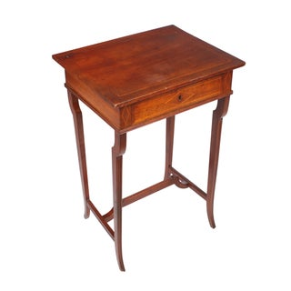 19th-C. Regency Style Sewing Cabinet Table