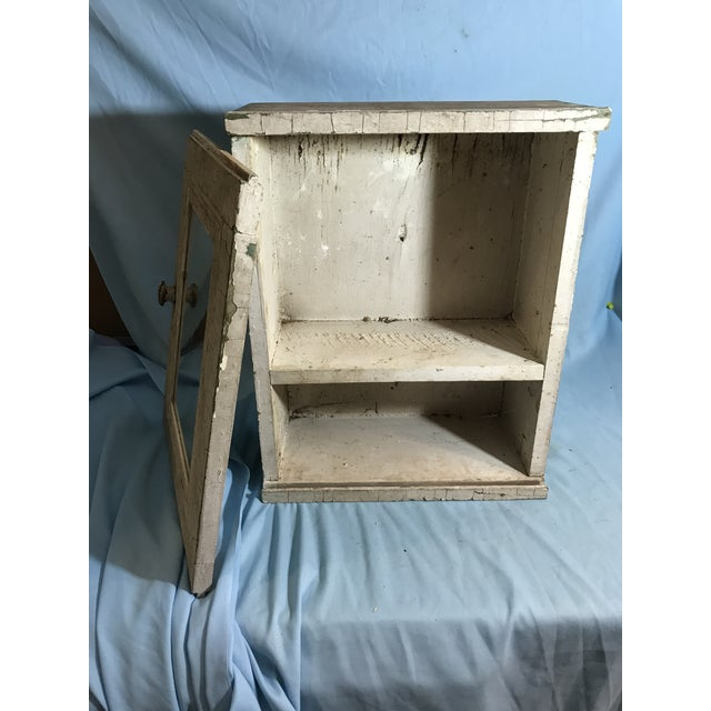 Primitive french country distressed wall cabinet chairish for What kind of paint to use on kitchen cabinets for north carolina wall art