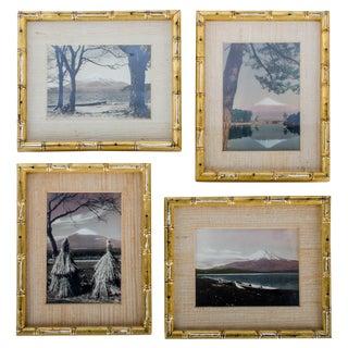 19th Century Views of Mount Fuji - Set of 4 Albumen Photographs