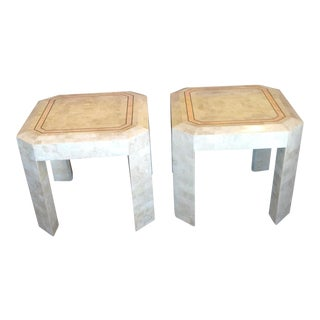 Maitland Smith Tessellated Side Table - a Pair