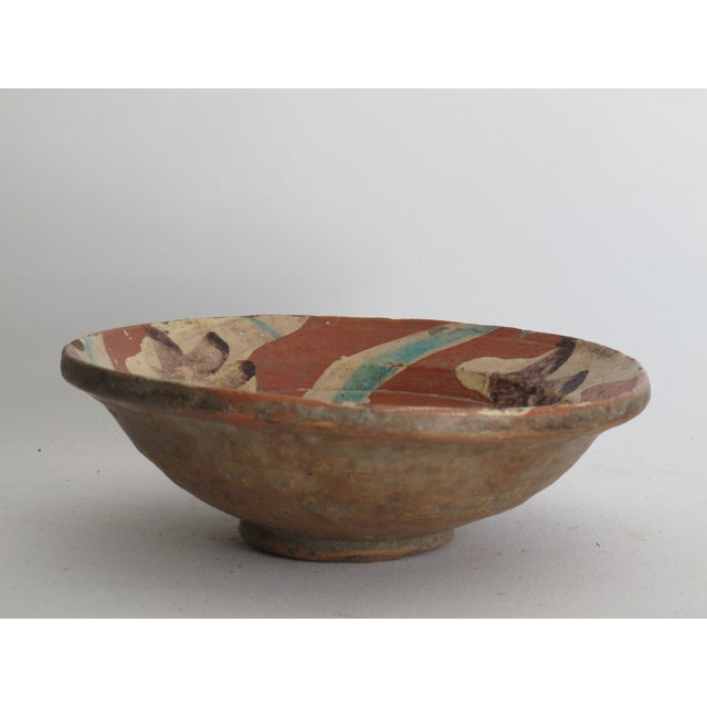 Terracotta Bowl with Flower Motif - Image 5 of 9