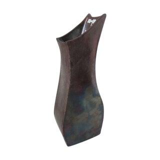 Raku Aron Frogge Vase Modernist Flower Pot Vessel
