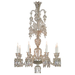 Fine Signed Baccarat Glass Chandelier