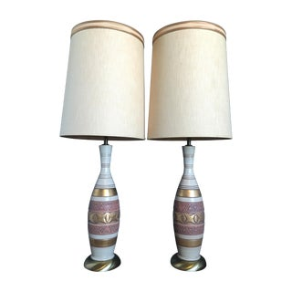 Mid-Century Palm Springs Estate Table Lamps - Pair