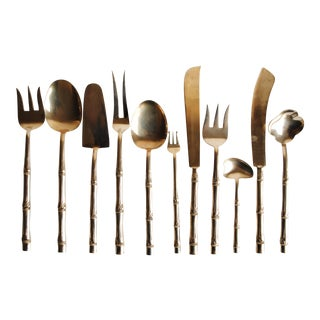 Mid-Century Bronze Flatware Set, 142 Pieces (Service for 12)