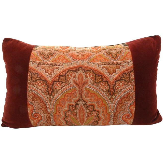 Image of Paisley & Velvet Bolster Pillow