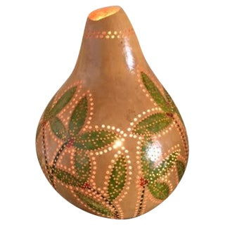 Handcrafted Boho Chic Gourd Lamp