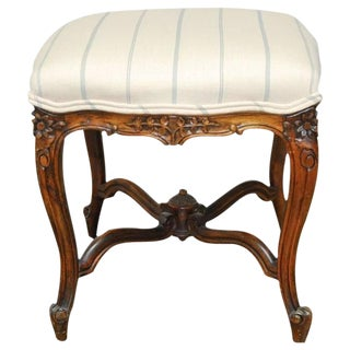 Antique French Louis XV Carved Tabouret Stool