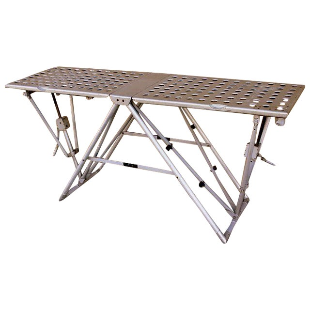 Industrial folding console table chairish for Table console retractable