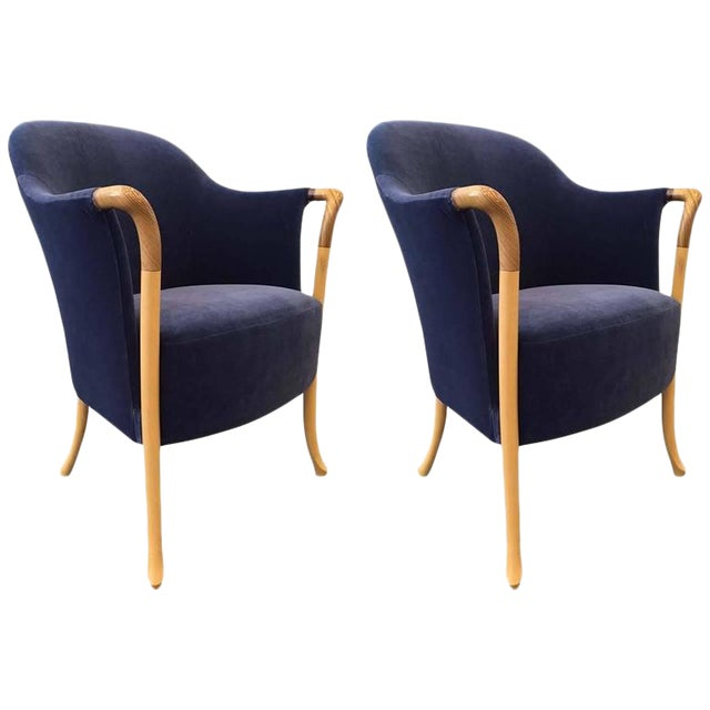 Pair Giorgetti Progetti Armchairs - Image 1 of 6