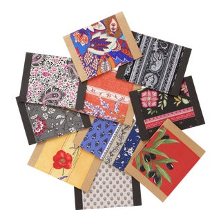 French Fabric & Paper Note Cards - Set of 10