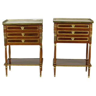 18th-C. Louis XVI End Tables - A Pair