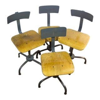Industrial Shop Chairs - Set of 4
