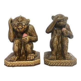 Vintage Monkey Statues - A Pair