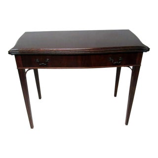 Expanding Mahogany Console Game Table