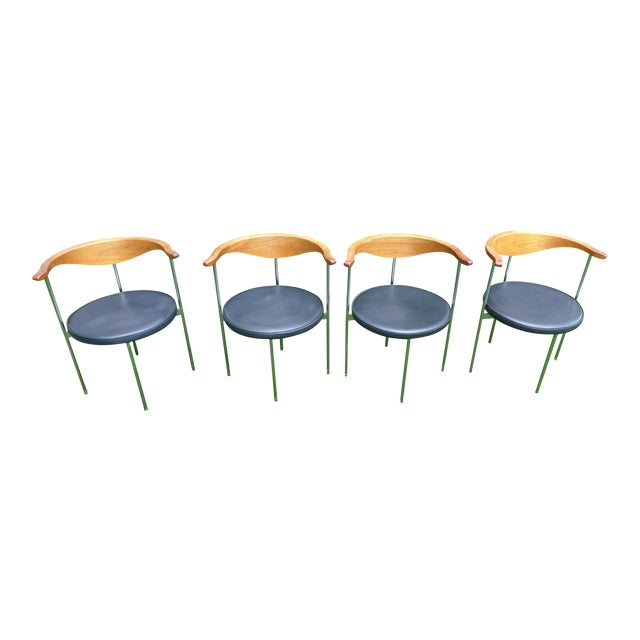 Frederik Sieck for Fritz Hansen Chairs - Set of 4 - Image 1 of 11