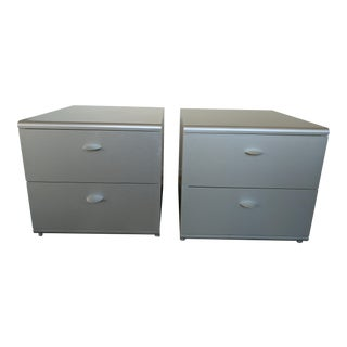 Jesus Gasca For Stua Spanish Two Drawer Side Tables - A Pair