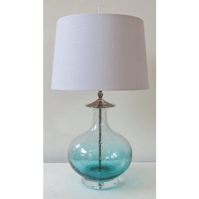 Image of Sea Green Blown Glass Lamp