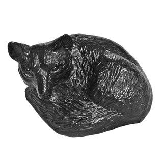 Black Epoxy Fox Figurine