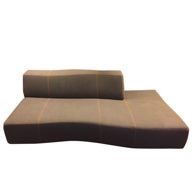 B&B Italia Modern Gray Bend Sofa  Chairish