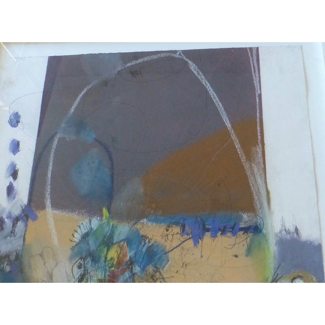 Large Abstract Mid-Century Painting - Image 6 of 11
