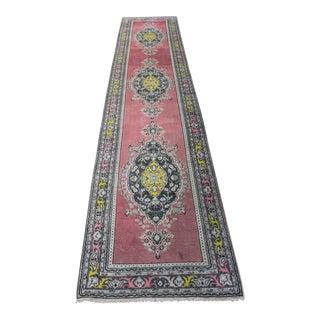 2.9 x 12.6 Feet Oriental Turkish Bodrum Vintage Rug