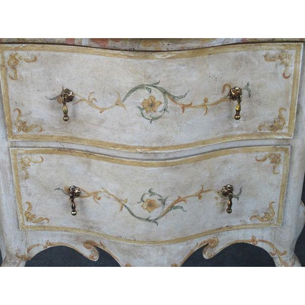 A Curvaceous Pair of Portuguese Rococo Style 2-Drawer Commodes - Image 4 of 6