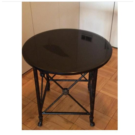 Black Granite Top Accent Table - Image 5 of 5