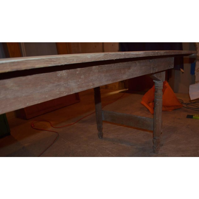 Antique Old Harvest Pine Table - Image 6 of 9