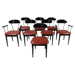 Modern Italian Pozzi Dining Chairs - Set of 8
