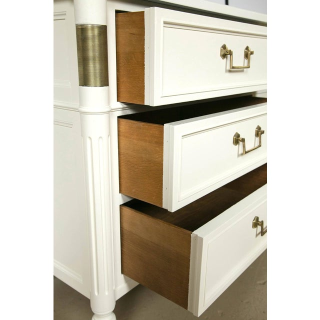 Baker Furniture White Lacquered Nine-Drawer - Image 4 of 6