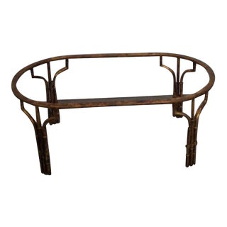 Gilt Metal Faux Bamboo Coffee Table Base