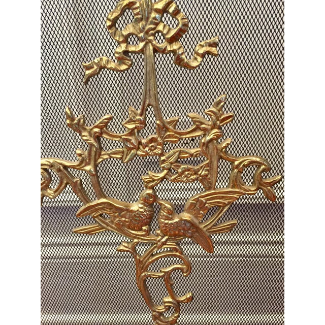 Louis XVI Style Brass Fireplace Screen - Image 9 of 10