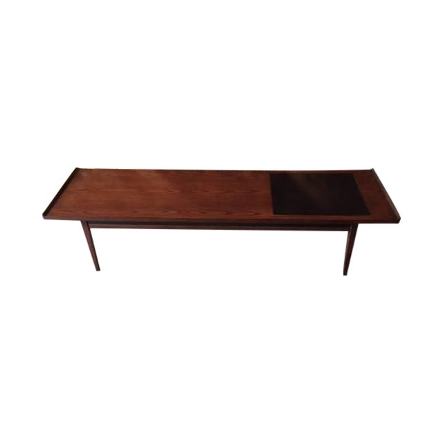 """Mid-Century Refinished """"Surfboard"""" Coffee Table - Image 1 of 5"""