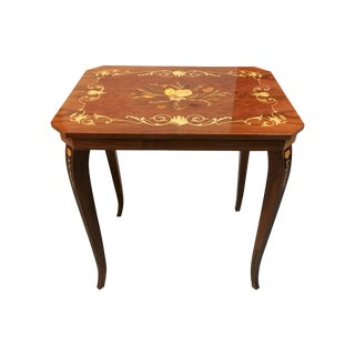 Italian Inlay Side Table