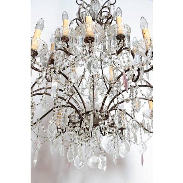 19th Century Italian 18-Light Crystal Chandelier - Image 7 of 10