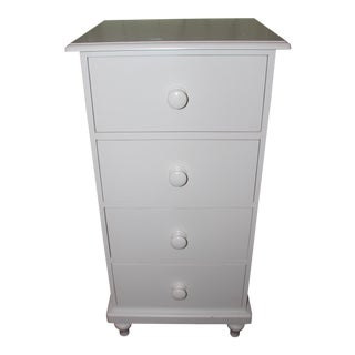 Catalina Pottery Barn Tall & Narrow White Dresser