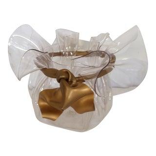 Vintage Lucite Ribbon Bow Bowl
