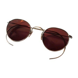 1930s Gold Filled Wire Sunglasses Sienna Lenses
