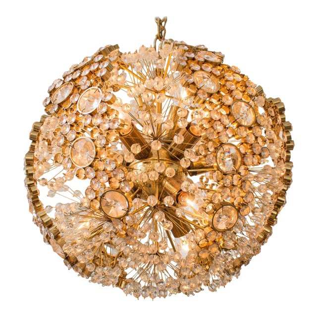 Gilt Brass J.L. Lobmeyr Chandelier - Image 1 of 9